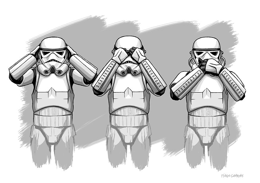 The three wise storm troopers
